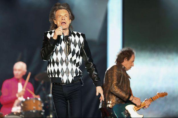 Mick Jagger et les Rolling Stones en concert à Chicago le 22 juin 2019.