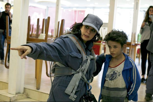 "Nadine Labaki sur le tournage de ""Capharnaüm"""