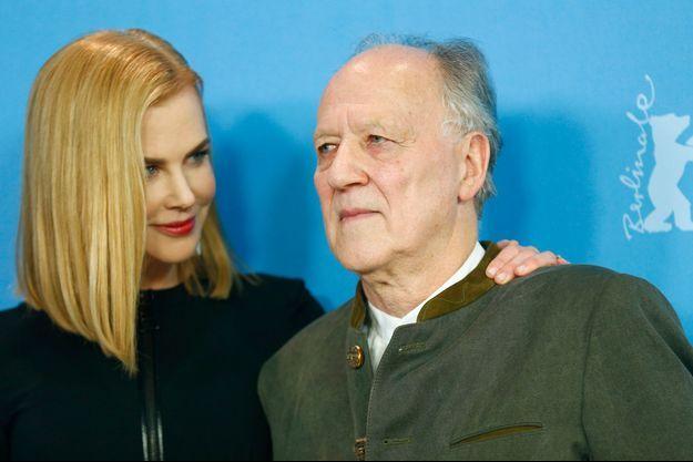 """Nicole Kidman et Werner Herzog lors du photocall de """"Queen of the Desert""""."""