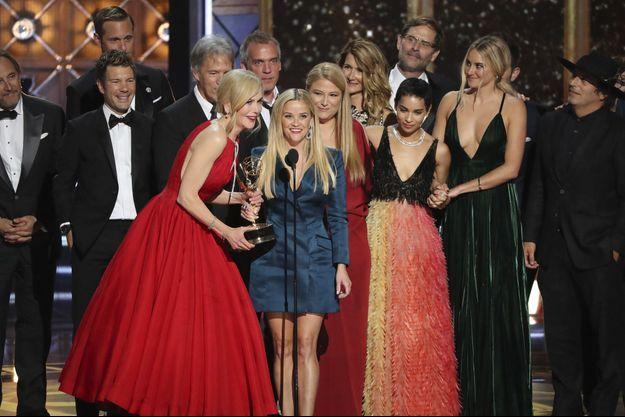 """Nicole Kidman, Reese Witherspoon et l'équipe de la série """"Big Little Lies"""""""