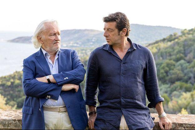 "Niels Arestrup et Patrick Bruel dans ""Villa Caprice""."