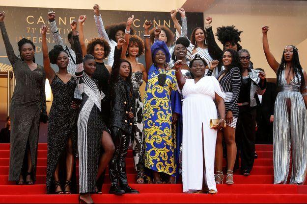 Seize actrices françaises noires ont monté ensemble les marches du Festival de Cannes.