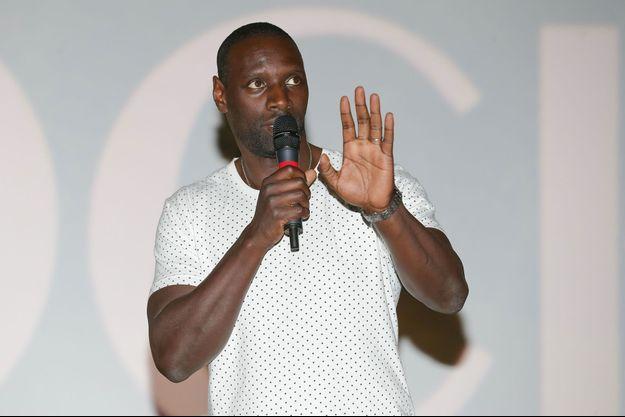 """Omar Sy à l'avant-première de """"Knock"""" à Lille, le 12 octobre dernier."""