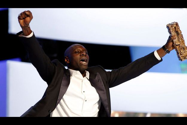 Omar Sy sur la scène des César, vendredi dernier.