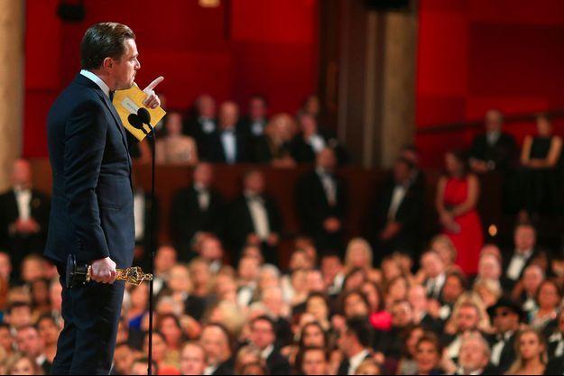 Leonardo DiCaprio à la cérémonie des Oscars.