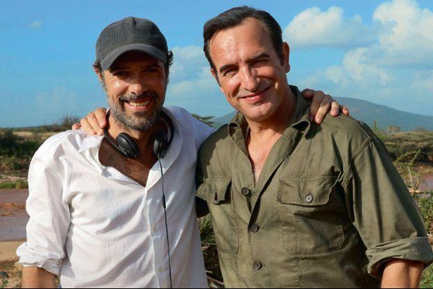 """Nicolas Bedos et Jean Dujardin sur le tournage d'""""OSS 117 : Alerte rouge en Afrique noire"""""""