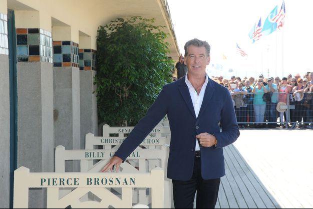 Pierce Brosnan à Deauville lors de la 40e édition.