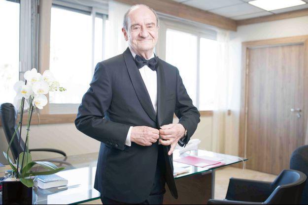 Le président Pierre Lescure dans son bureau du 3 e étage du Palais des Festivals, le 10 juillet.