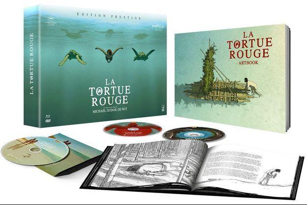 """Le coffret de """"La Tortue rouge""""."""