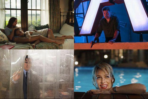 """De gauche à droite, de haut en bas, """"La Quietud"""", """"Domino"""", """"The House That Jack Built"""" et """"Under the Silver Lake""""."""