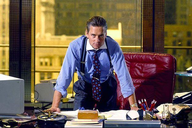 "Michael Douglas dans ""Wall Street"" d'Oliver Stone."
