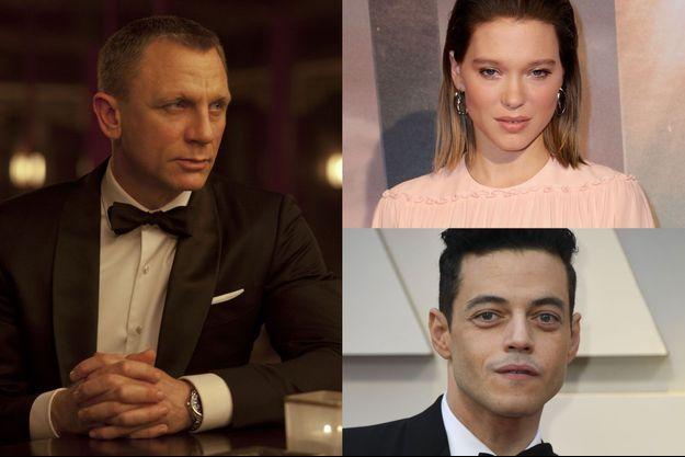Daniel Craig, Léa Seydoux et Rami Malek.