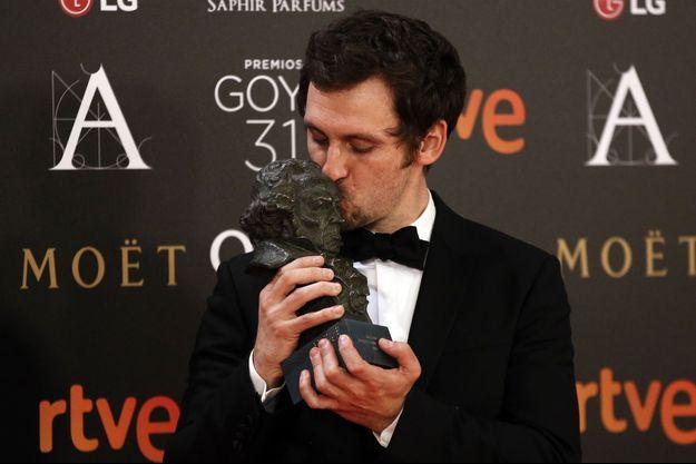 """Raul Arevalo a obtenu le Goya du meilleur premier film pour """"La Colère d'un homme patient"""""""