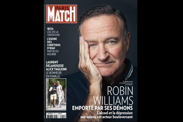 Robin Williams en couverture du numéro 3404 de Paris Match.