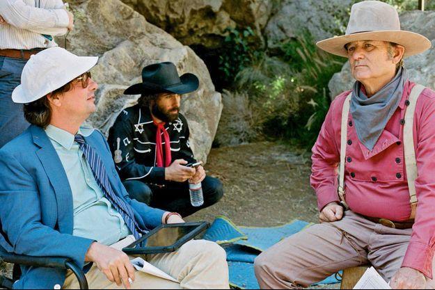 Sur le tournage avec Bill Murray.