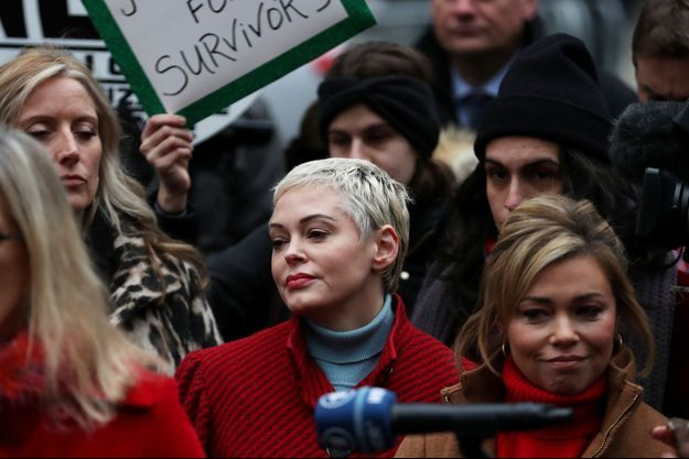 Rose McGowan à New York; pendant le procès Weinstein.
