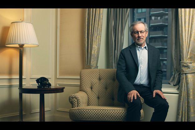 Steven Spielberg dans une chambre du Ritz-Carlton à New York.