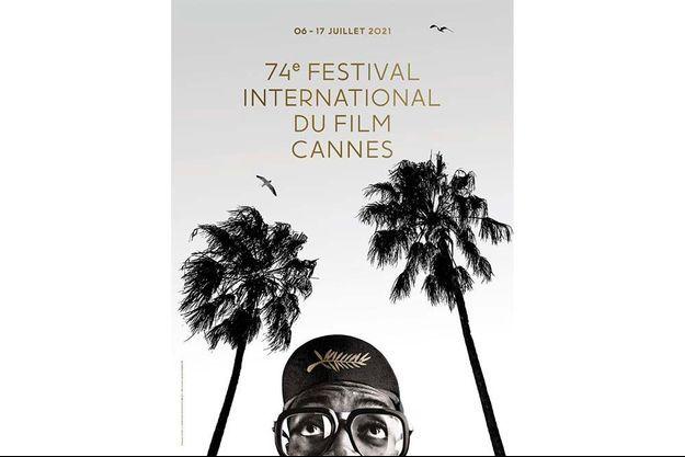 L'affiche du 74e Festival de Cannes.
