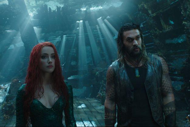 Amber Heard (Mera) et Jason Momoa (Aquaman).
