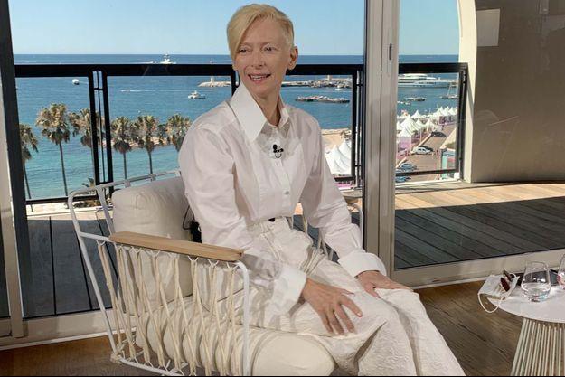 Tilda Swinton à Cannes.