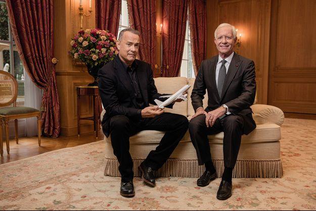 Tom Hanks et le pilote d'US Airways Chesley Sullenberger, dit Sully.