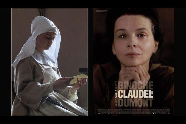 """A gauche, une photo de """"La Religieuse"""", à droite l'affiche de """"Camille Claudel 1915""""."""