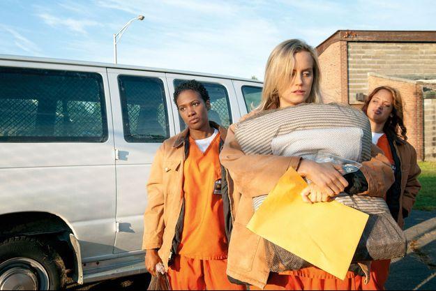 Piper Chapman lors de son arrivée à la prison.