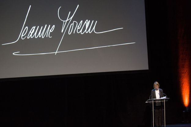La ministre de la culture Françoise Nyssen a rendu hommage à Jeanne Moreau.