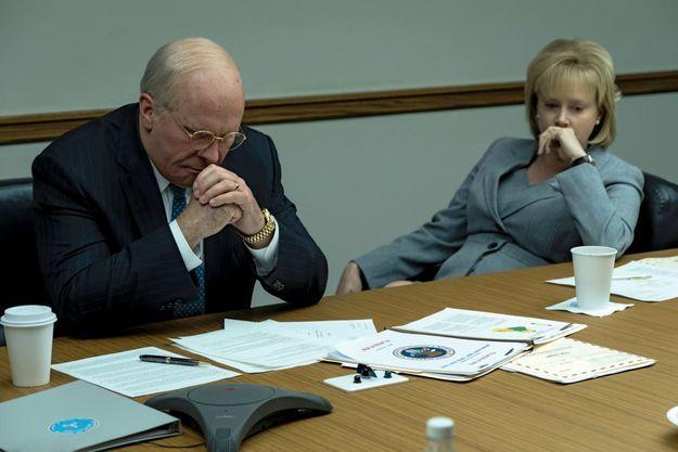 Dick Cheney et sa femme, Lynne, dans « Vice ». L'acteur, qui a pris 20 kilos pour le rôle, est nommé aux Oscars.