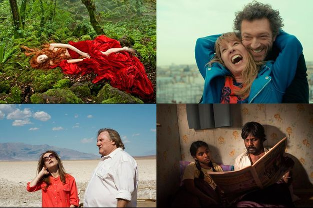 """Le Conte des contes"", ""Mon roi"", ""The Valley of Love"" et ""Dheepan""."