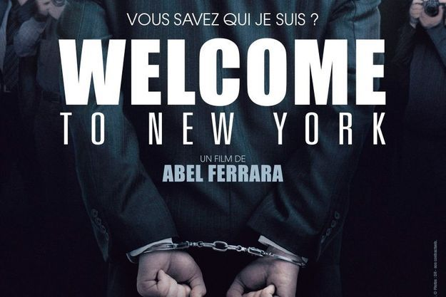 """Extrait de l'affiche de """"Welcome To New York"""" avec Gérard Depardieu et Jacqueline Bisset."""