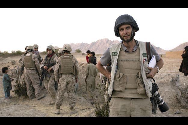 Août 2009. Alfred de Montesquiou avec une patrouille de marines dans le sud-est de l'Afghanistan.