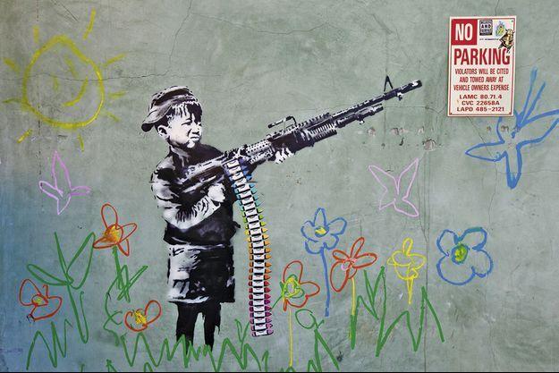 « Crayola » de Banksy, Westwood, Los Angeles.