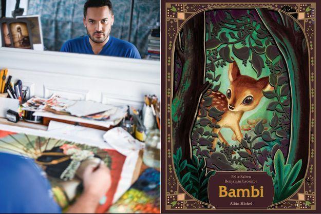 « Bambi », de Felix Salten et Benjamin Lacombe (à g.) éd. Albin Michel, 176 pages, 29,90 euros.