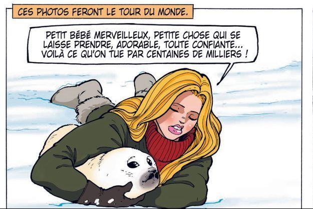 Extrait de la bande-dessinée « Brigitte Bardot », de Bernard Swysen et Christian Paty