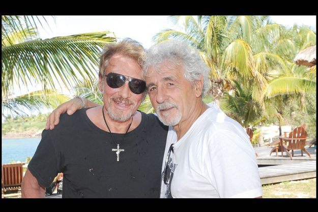 Johnny et Daniel à Saint-Barth en 2010.
