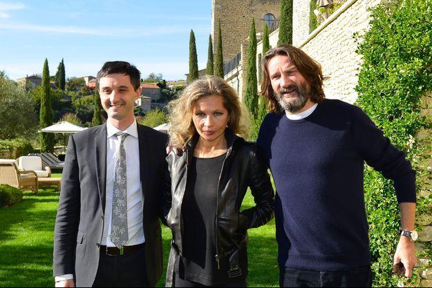 Richard Kitaeff maire de Gordes, Eva Ionesco et Frédéric Beigbeder