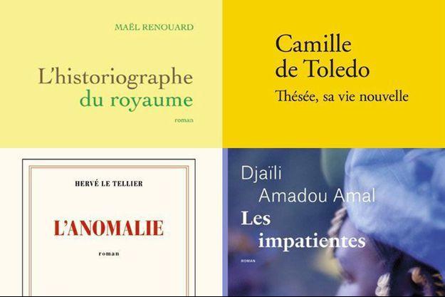 Les quatre finalistes du prix Goncourt