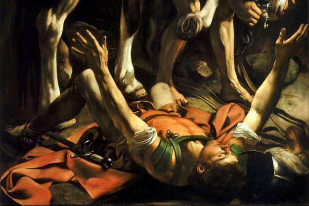 """Extrait du tableau """"La Conversion de saint Paul sur la route de Damas"""" (1600) par Le Caravage."""