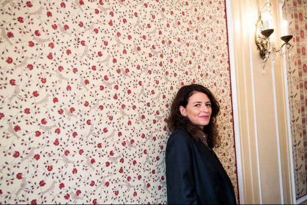 Karine Tuil, après avoir reçu le prix Interralié le 13 novembre 2019.