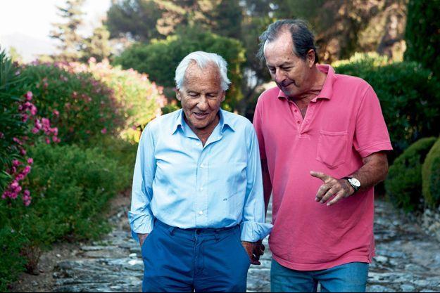 Les deux complices à Saint-Florent, en Corse, en août 2012.