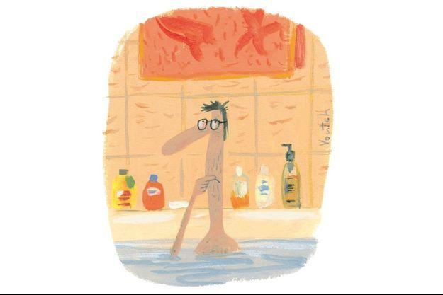 Voutch trouve la plupart de ses idées dans son bain.