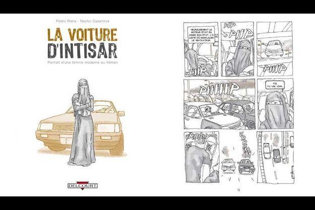 """""""La voiture d'Intisar"""", aux éditions Delcourt."""