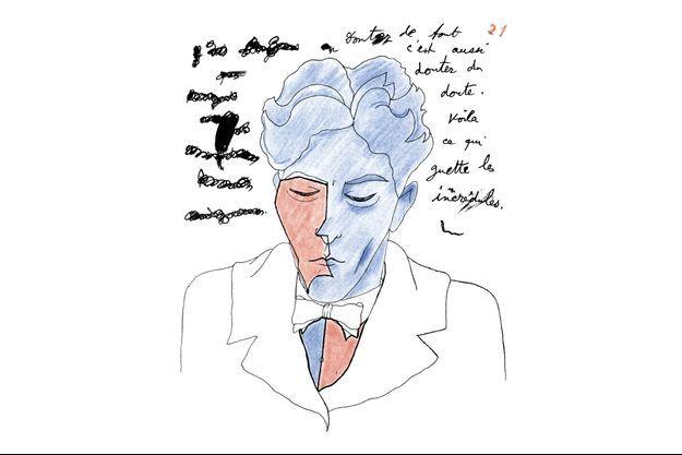 Le 21e autoportrait de Cocteau, dessiné en 1924.