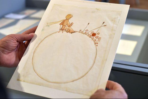 """Un dessin du """"Petit Prince"""" par Antoine de Saint-Exupéry, à Toulouse en mai dernier."""
