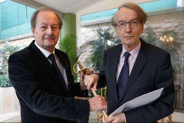 Jean-Marie Rouart et Patrick Grainville.
