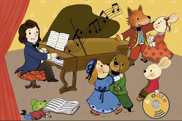 """Extrait de la couverture de """"Mon petit Chopin"""", illustré par Séverine Cordier"""