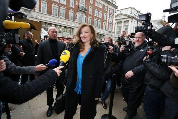 Valérie Trierweiler à Londres ce mardi.