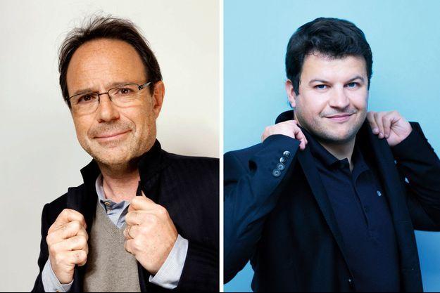Marc Levy et Guillaume Musso, les deux plus gros vendeurs de livres en France chaque année.