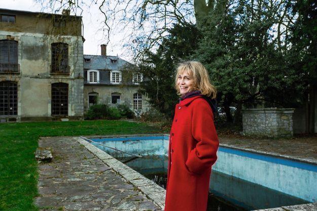 Marie-Claude Magne au château d'Hérouville, où elle a vécu avec Michel Magne jusqu'en 1974.